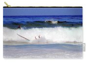Surfers At Asilomar State Beach Three Oopsy Daisy Carry-all Pouch