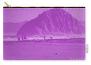 Surfers On Morro Rock Beach In Purple Carry-all Pouch