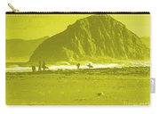 Surfers On Morro Rock Beach In Yellow Carry-all Pouch