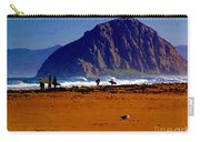 Surfers On Morro Rock Beach Carry-all Pouch