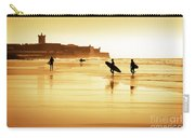 Surfers Silhouettes Carry-all Pouch by Carlos Caetano