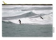 Surfing At Sennen Cove Cornwall Carry-all Pouch
