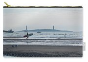 Surfing On Good Harbor Beach Gloucester Ma Carry-all Pouch