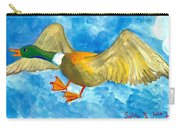 Surprised Flying Duck Detail Of Duck Meets Fairy Ballet Class Carry-all Pouch