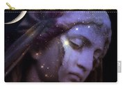 Surreal Celestial Angelic Face With Stars And Moon - Purple Moon Celestial Angel  Carry-all Pouch