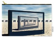 Surreal Elephant Desert Scene Carry-all Pouch
