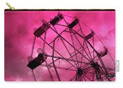 Surreal Fantasy Dark Pink Ferris Wheel Carnival Ride Starry Night - Pink Ferris Wheel Home Decor Carry-all Pouch