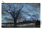 Surreal Fantasy Fairytale Blue Starry Trees Landscape - Fantasy Nature Trees Starlit Night Wall Art Carry-all Pouch
