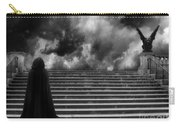 Surreal Gothic Infrared Black Caped Figure With Gargoyle On Paris Steps Carry-all Pouch