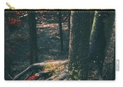 Surreal Red Leaves In A Dark Forest Finland Carry-all Pouch