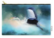 Surreal Stork In A Storm Carry-all Pouch