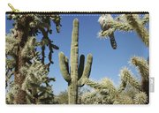 Surrounded Saguaro Cactus Wren Carry-all Pouch