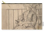 Susan On A Balcony Holding A Dog [recto] Carry-all Pouch