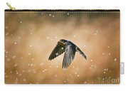 Swallow In Rain Carry-all Pouch
