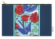 Swallows And Roses Carry-all Pouch