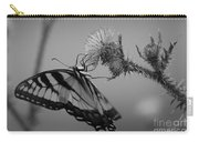 Swallowtail Black And White Carry-all Pouch