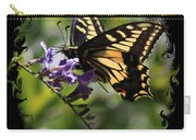 Swallowtail Butterfly 1 With Swirly Frame Carry-all Pouch