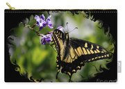 Swallowtail Butterfly 2 With Swirly Framing Carry-all Pouch