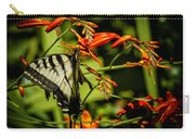 Swallowtail Hanging On The Crocosmia Carry-all Pouch