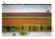 Swamp And Field Landscape Autumn Season Carry-all Pouch