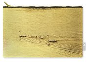 Swan Family Into The Sunset Carry-all Pouch