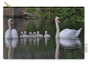 Swan Family Portrait Carry-all Pouch