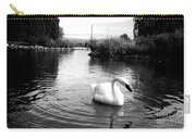 Swan In Black And White Carry-all Pouch