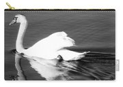 Swan In Motion On A Pond Carry-all Pouch