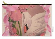 Swan In Pink Card Carry-all Pouch