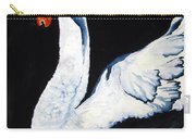 Swan In Shadows Carry-all Pouch