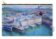 Swan Island Poetry - Large Original Contempory Impressionist Painting Carry-all Pouch