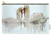 Swan Love Acrylic Painting Carry-all Pouch