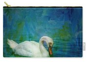 Swan On A Blue And Green Lake Carry-all Pouch