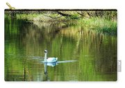 Swan On The Cong River Cong Ireland Carry-all Pouch