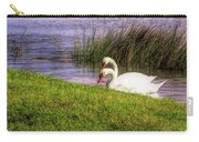 Swan Pair Warm Color Carry-all Pouch