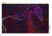 Swan Silhouette Drop Of Water  Carry-all Pouch