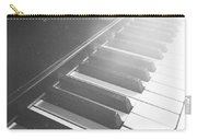 Swan Song Music Piano Keys Black And White Carry-all Pouch