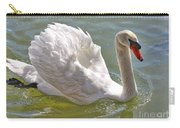 Swan Swimming By Carry-all Pouch