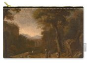 Swanevelt, Herman Van Woerden, 1603 - Paris, 1655 Landscape With Travellers And A Shepherd 1635 - 16 Carry-all Pouch