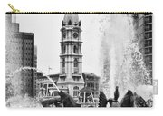 Swann Memorial Fountain In Black And White Carry-all Pouch