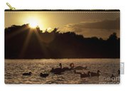 Swans And Ducks Carry-all Pouch