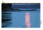 Swans And The Moonrise In Stockholm Carry-all Pouch