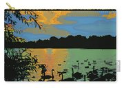 Swans At Sunset Carry-all Pouch