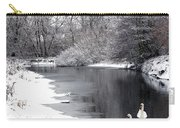 Swans In The Snow Carry-all Pouch by Gary Eason