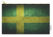 Sweden Distressed Flag Dehner Carry-all Pouch