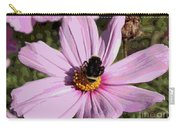 Sweet Bee On Pink Cosmos - Digital Art Carry-all Pouch