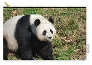 Sweet Chinese Panda Bear Sitting Down In Grass Carry-all Pouch
