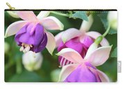 Sweet Fuchsia Flowers Carry-all Pouch