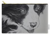 Sweet Girl Border Collie Puppy Carry-all Pouch