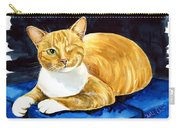 Sweet Melon - Ginger Tabby Cat Painting Carry-all Pouch